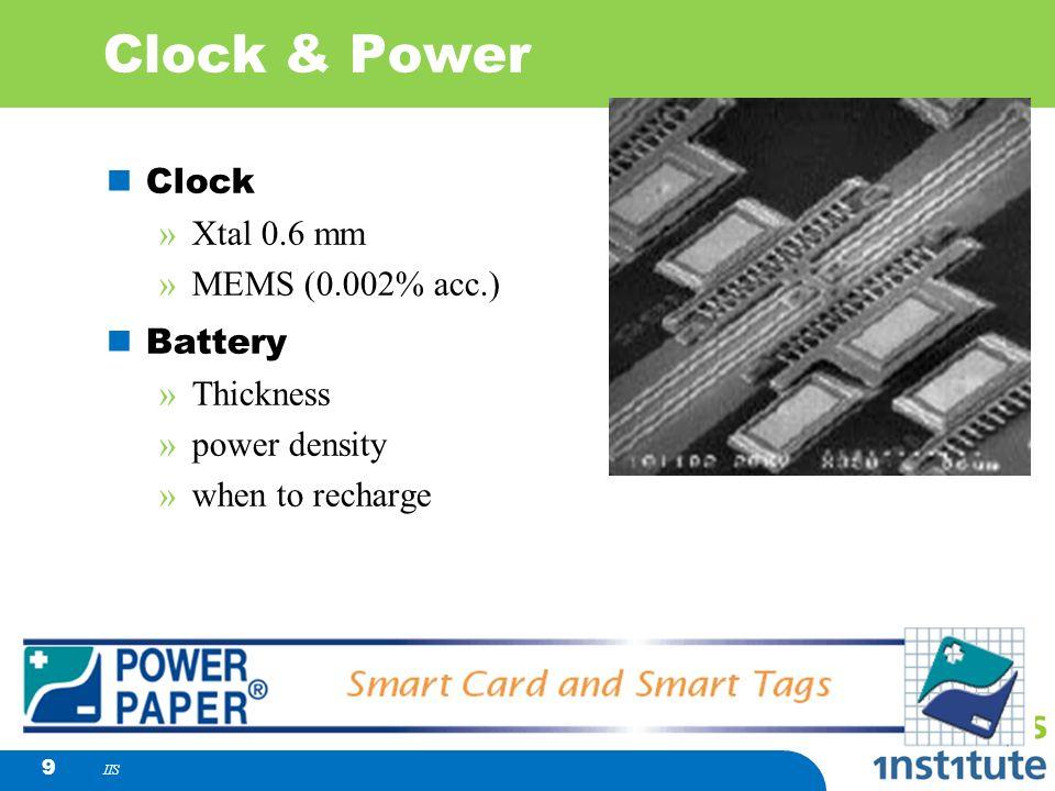 Clock & Power Clock Xtal 0.6 mm MEMS (0.002% acc.) Battery Thickness