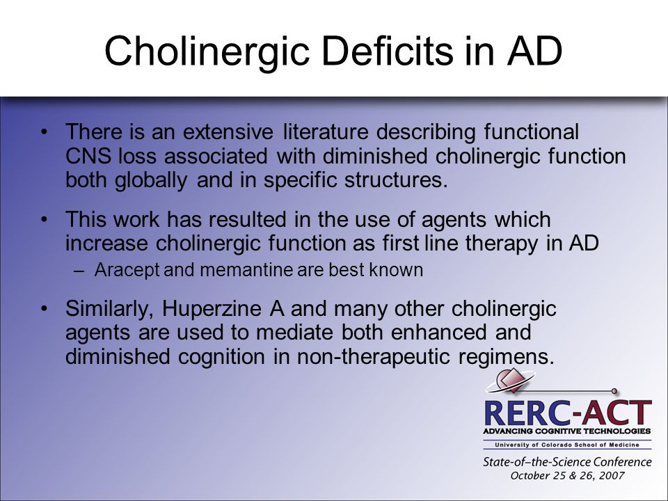 Cholinergic Deficits in AD