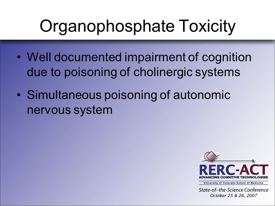 Organophosphate Toxicity