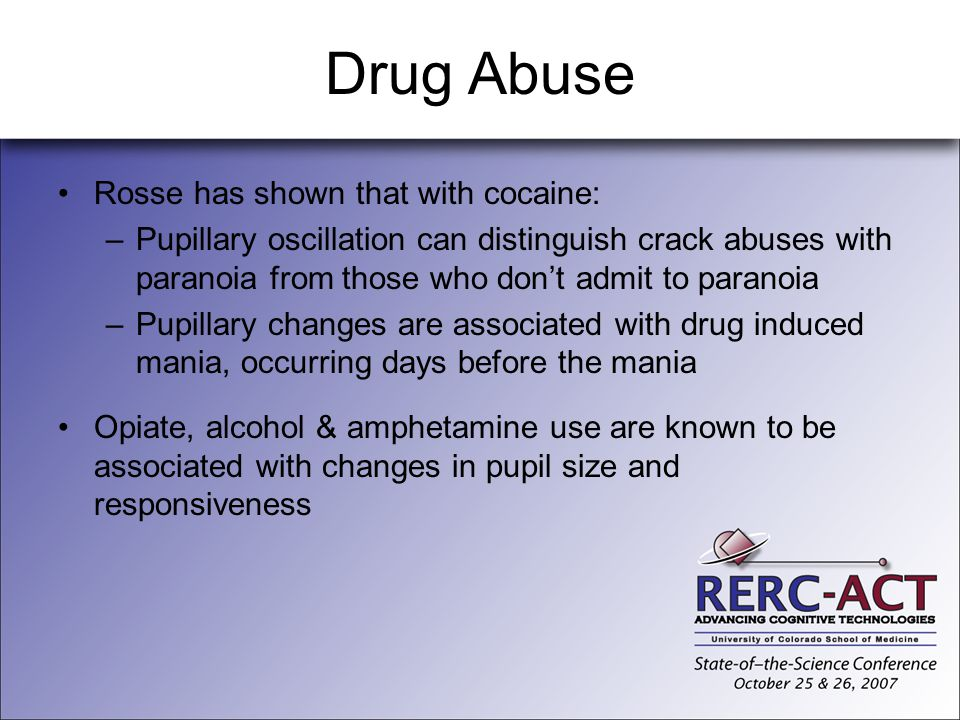 Drug Abuse Rosse has shown that with cocaine: