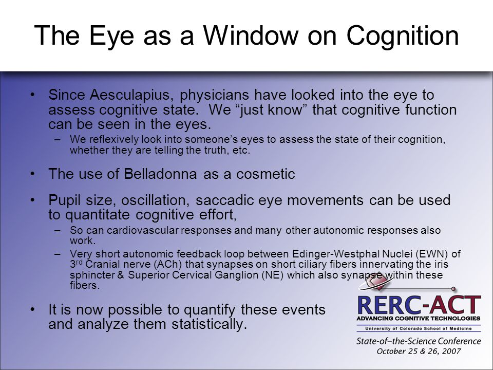 The Eye as a Window on Cognition
