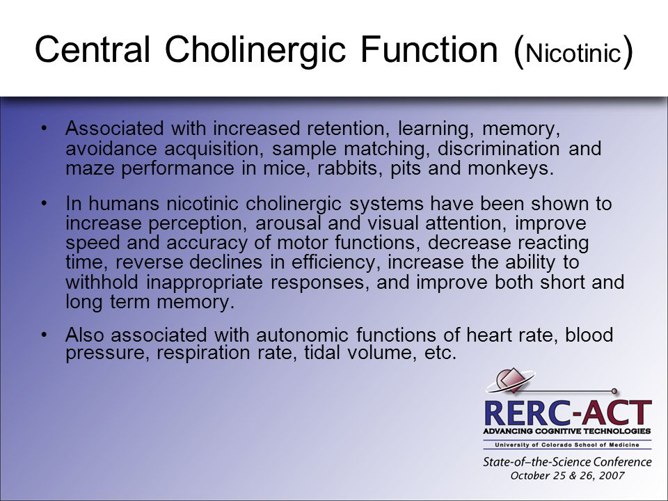 Central Cholinergic Function (Nicotinic)