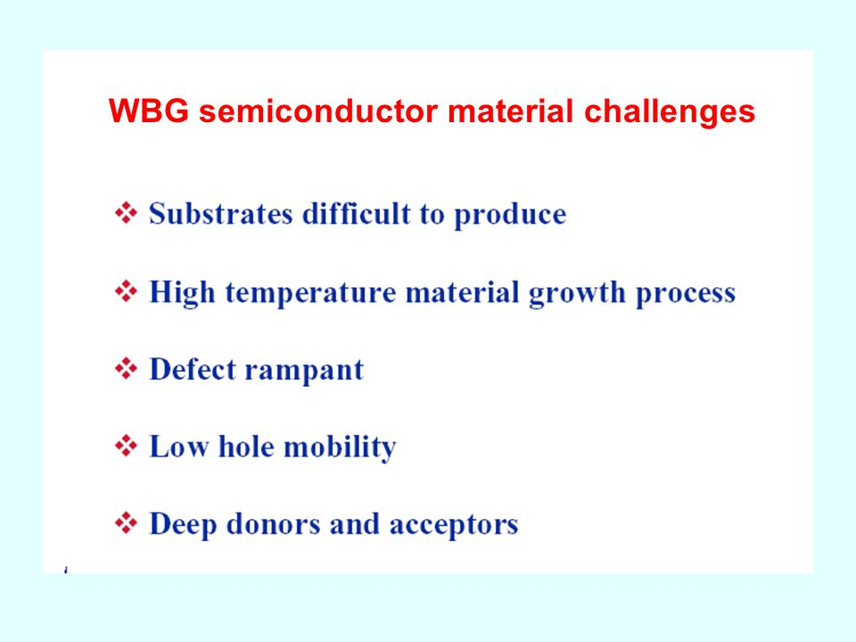WBG semiconductor material challenges