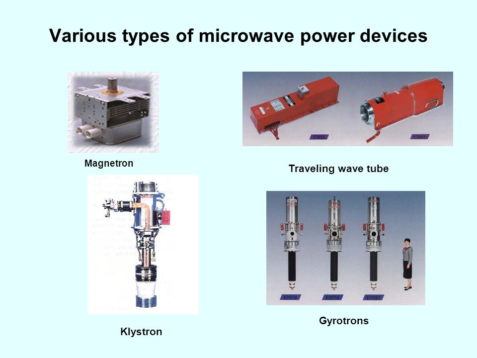 Various types of microwave power devices