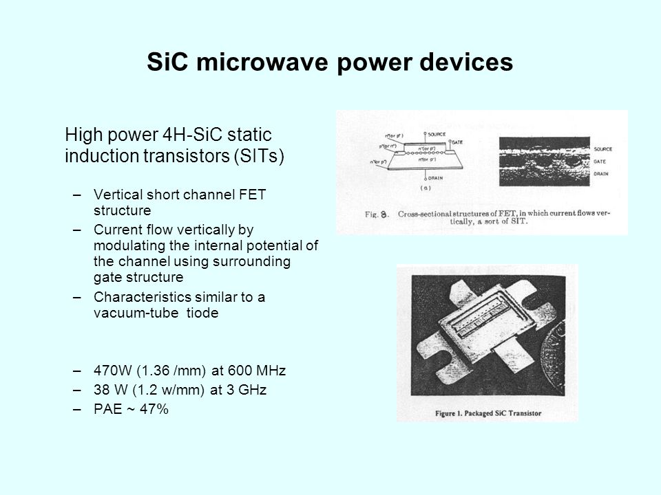 SiC microwave power devices