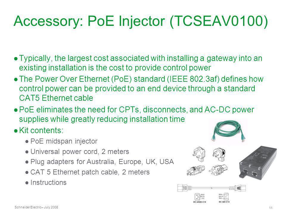 Accessory: PoE Injector (TCSEAV0100)