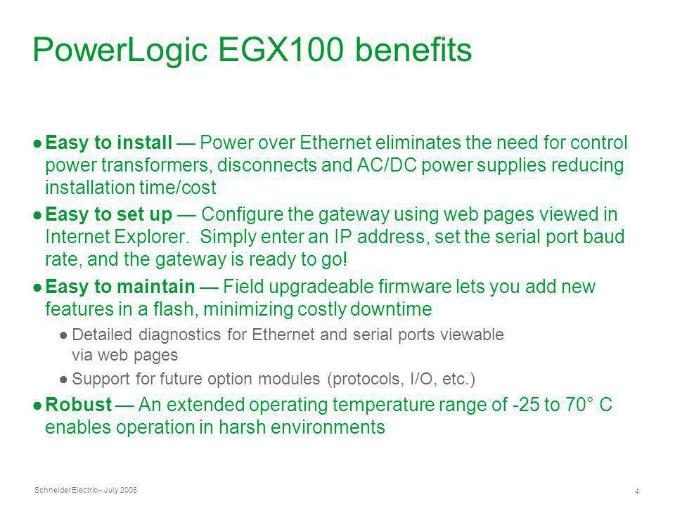 PowerLogic+EGX100+benefits entry level, ethernet to serial line gateway ppt video online egx100 wiring diagram at panicattacktreatment.co