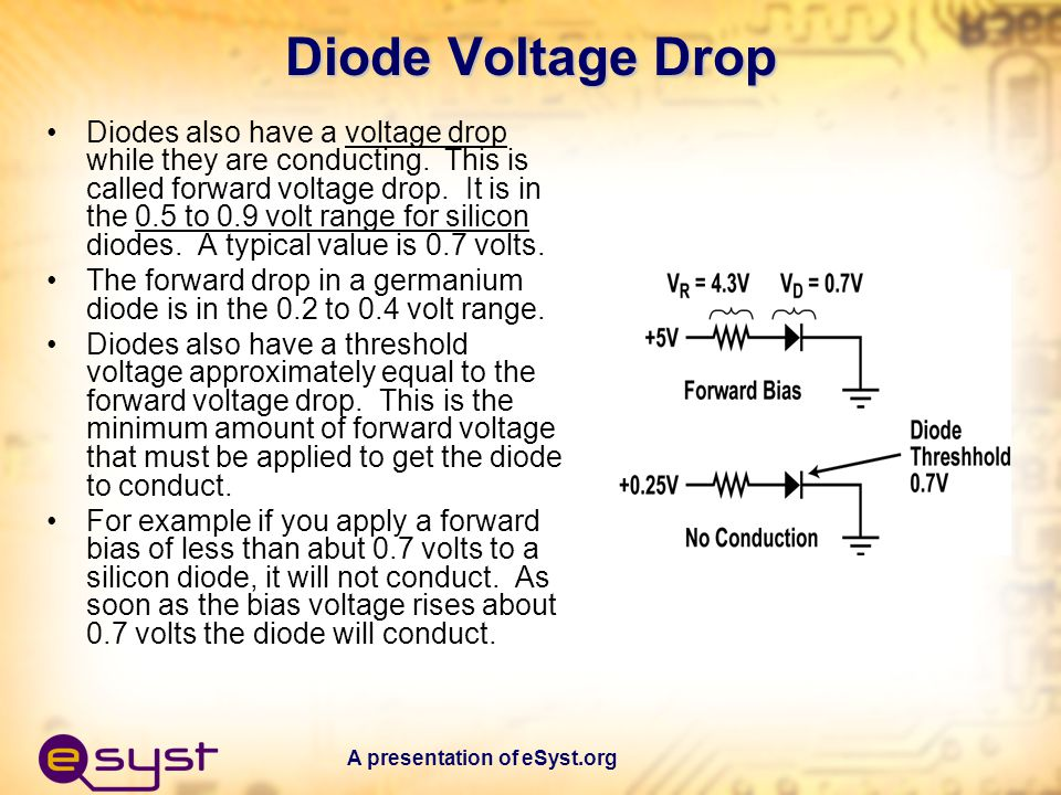 Diode Voltage Drop