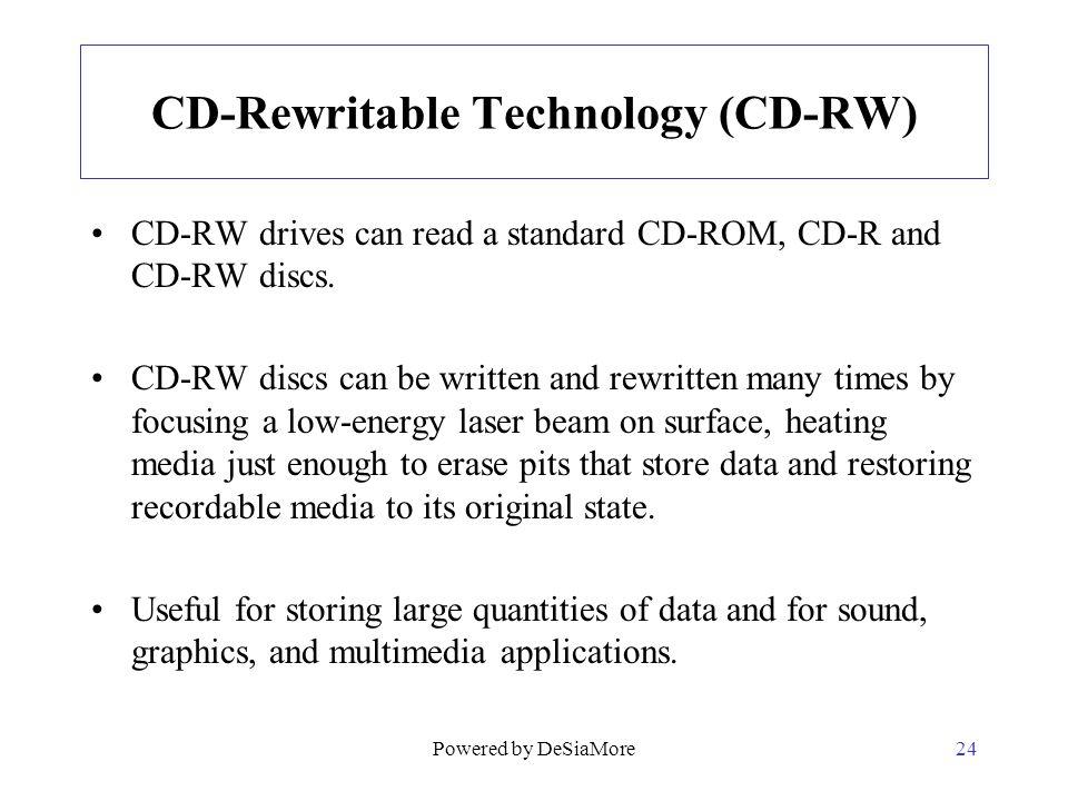 CD-Rewritable Technology (CD-RW)