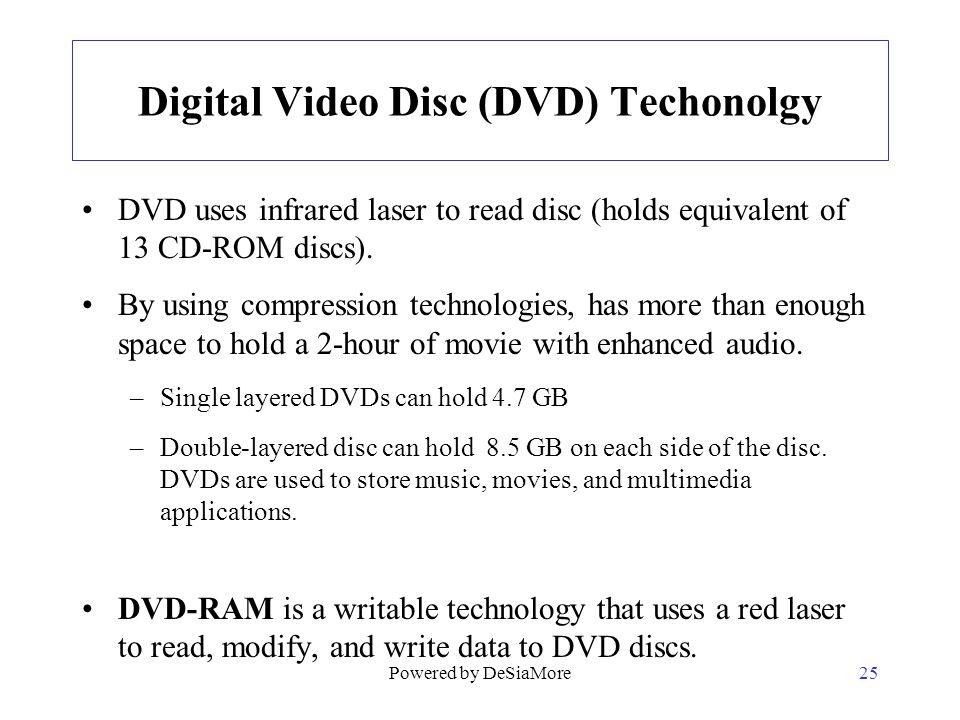 Digital Video Disc (DVD) Techonolgy