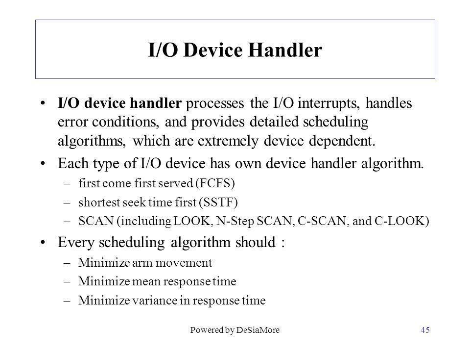 I/O Device Handler