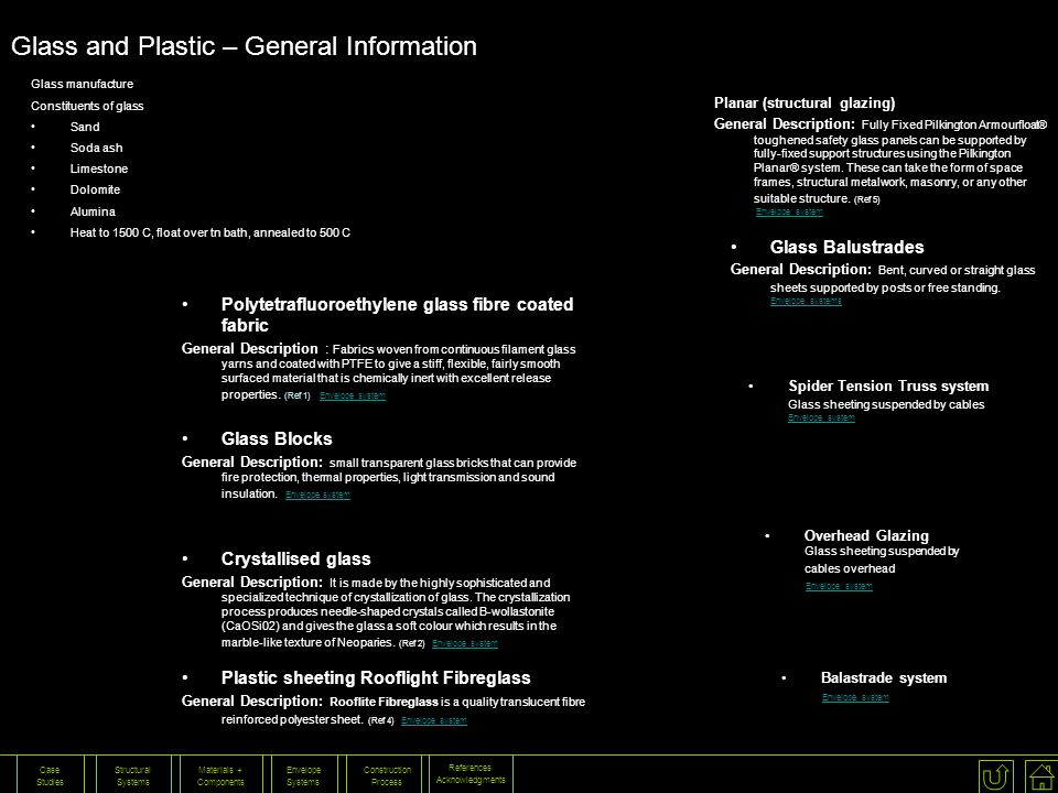 Glass and Plastic – General Information