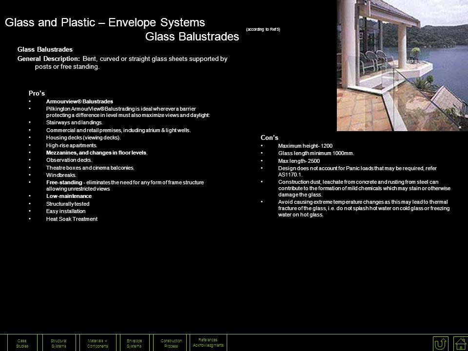 Glass and Plastic – Envelope Systems Glass Balustrades
