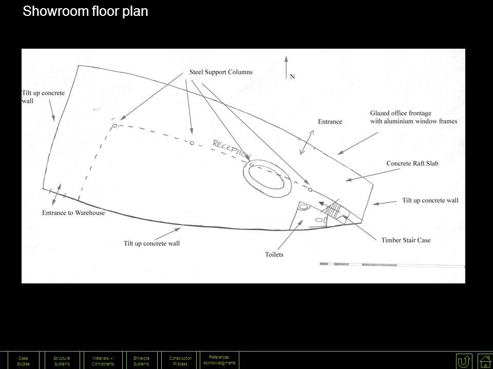 Showroom floor plan