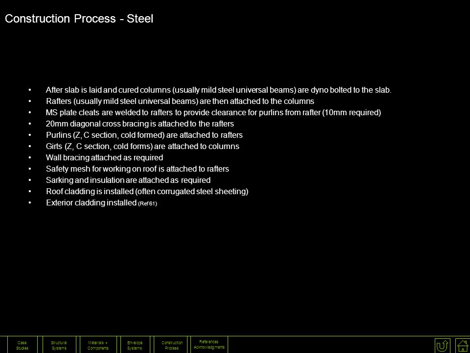 Construction Process - Steel