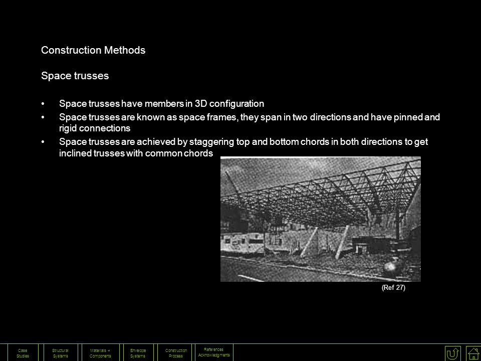 Construction Methods Space trusses