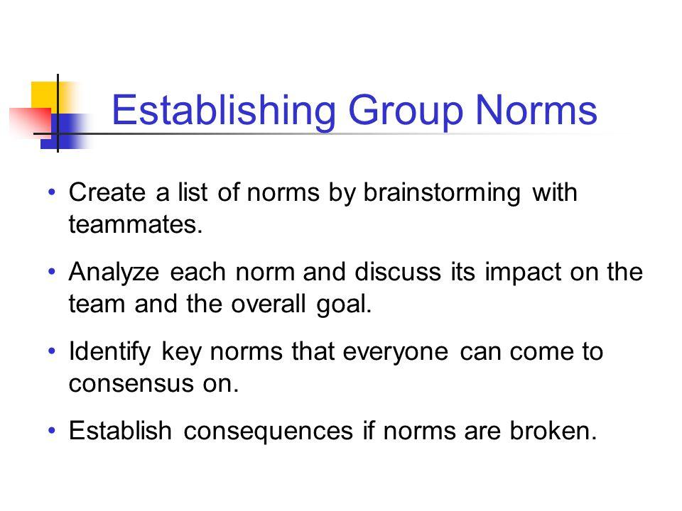 Establishing Group Norms