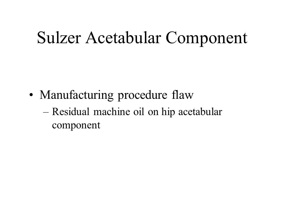 Sulzer Acetabular Component