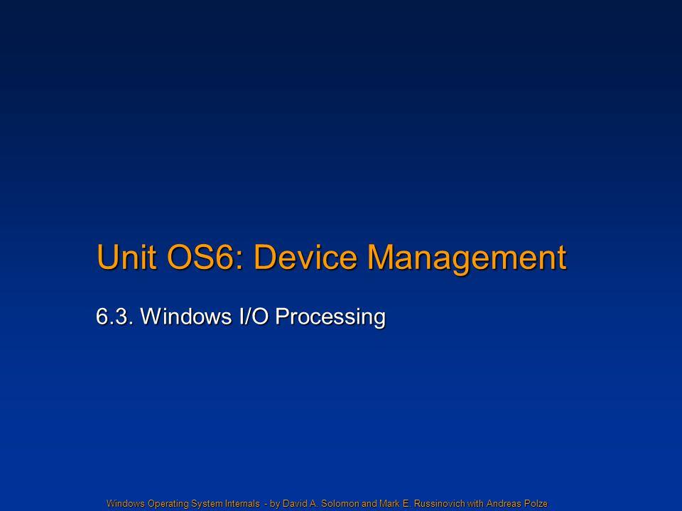 Unit OS6: Device Management