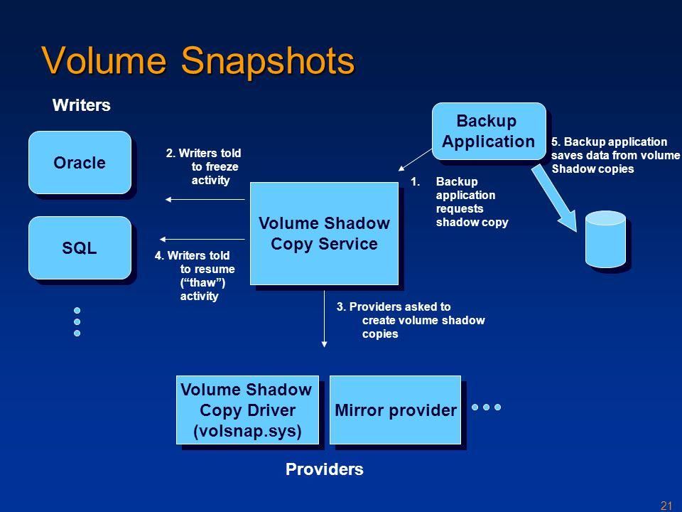 Volume Shadow Copy Driver