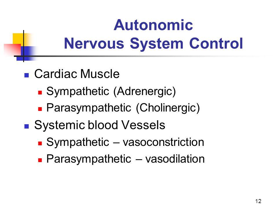 Autonomic Nervous System Control