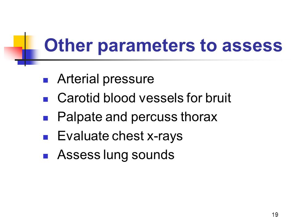 Other parameters to assess