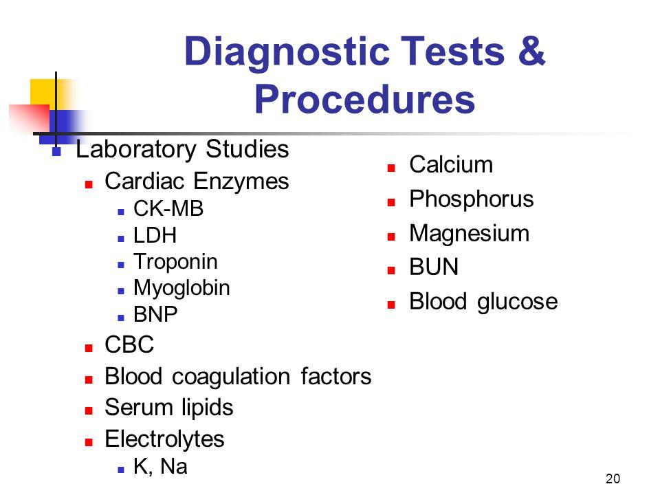 Diagnostic Tests & Procedures