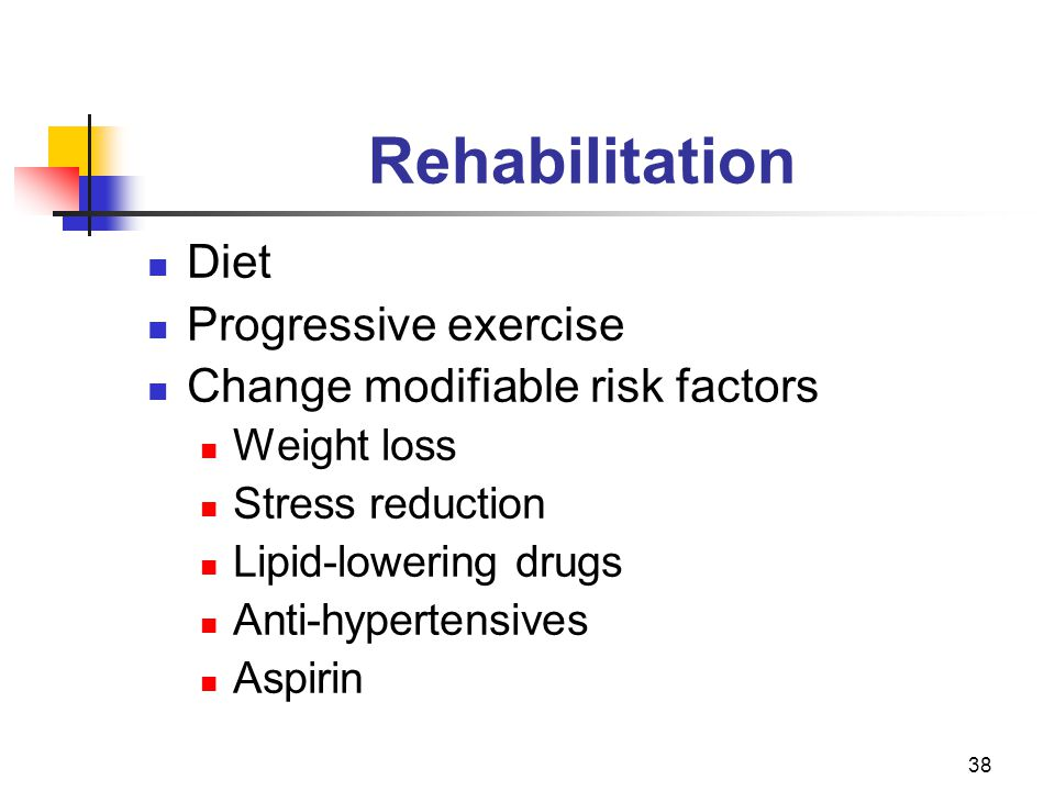 Rehabilitation Diet Progressive exercise