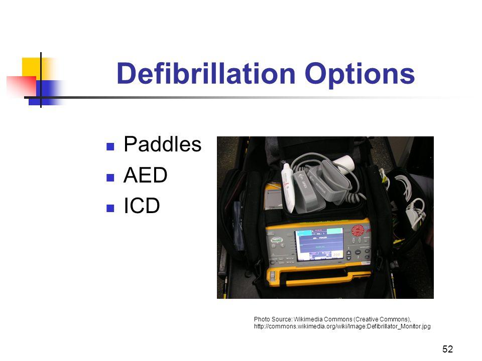 Defibrillation Options