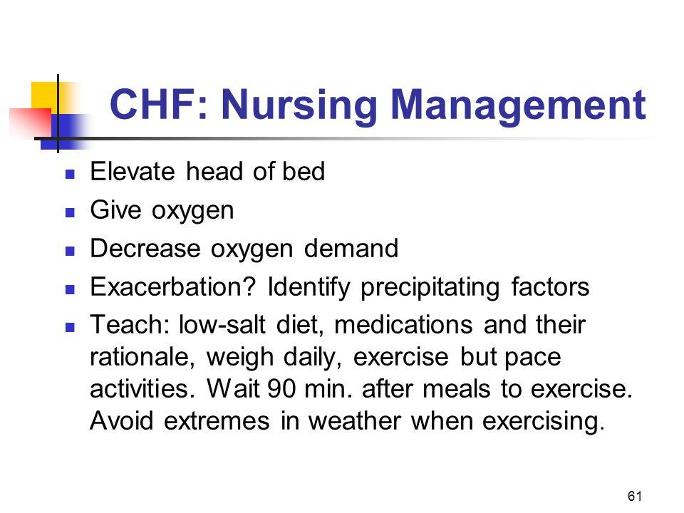 CHF: Nursing Management