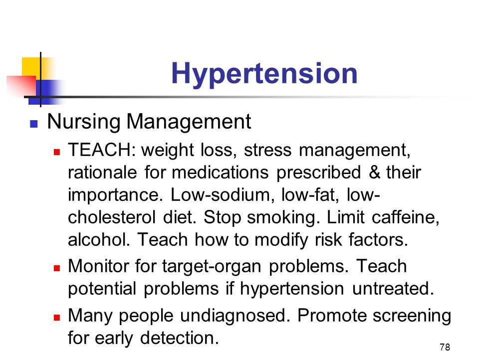 Hypertension Nursing Management