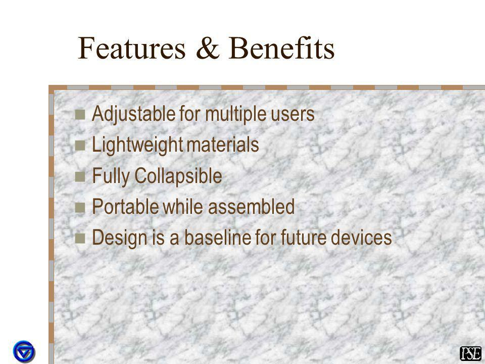 Features & Benefits Adjustable for multiple users