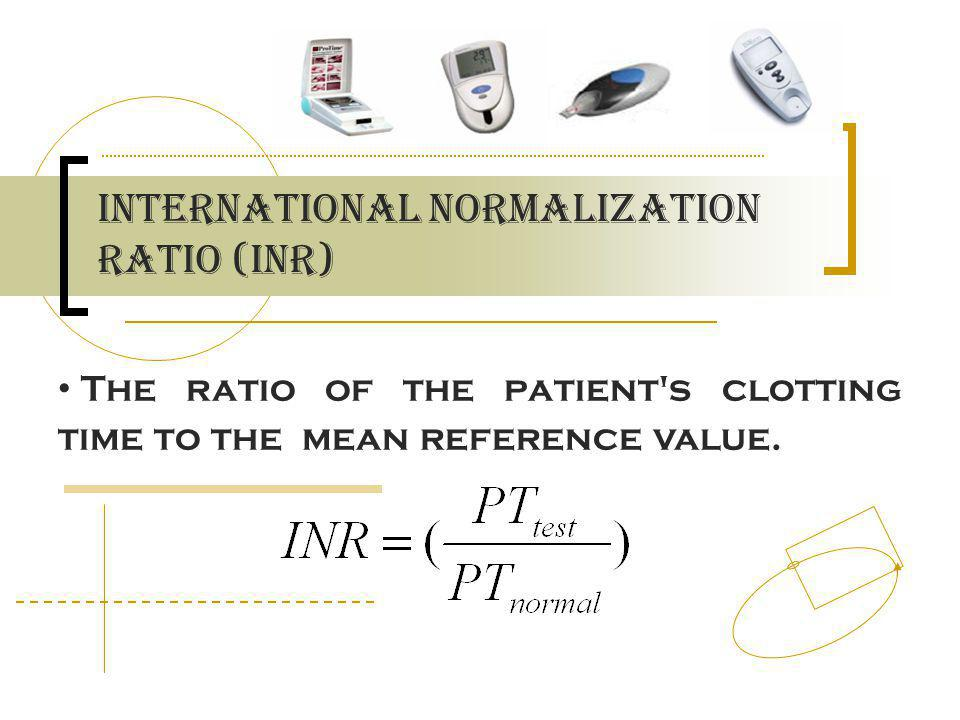 International Normalization Ratio (inr)