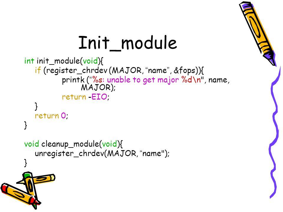 Init_module int init_module(void){