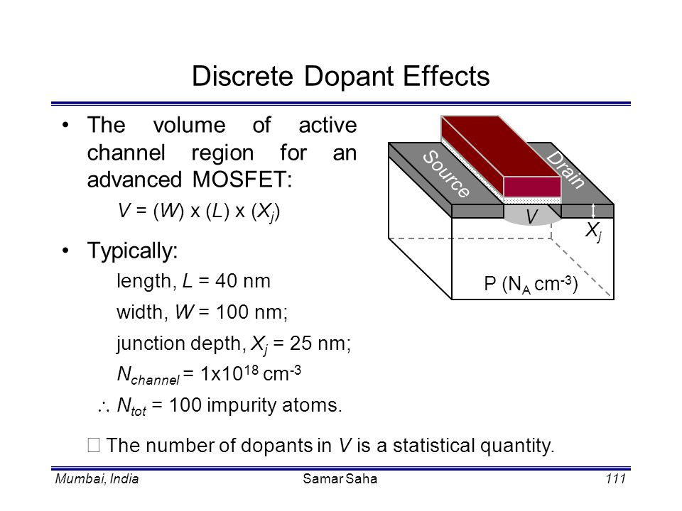Discrete Dopant Effects