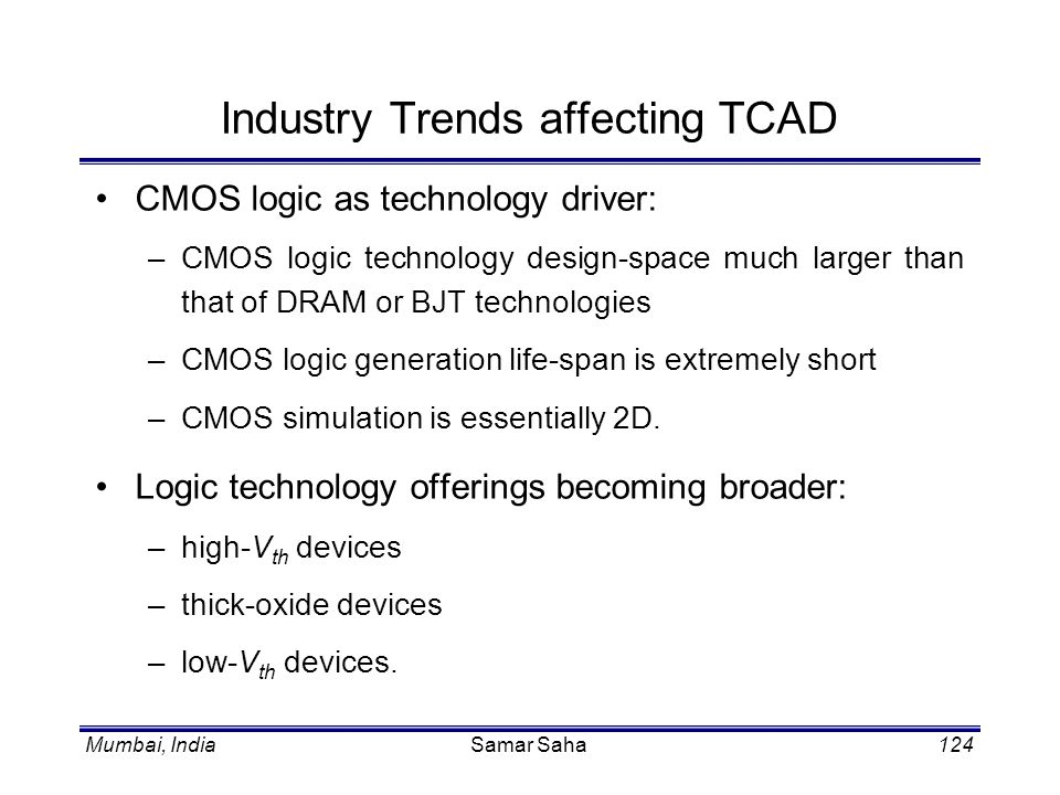 Industry Trends affecting TCAD