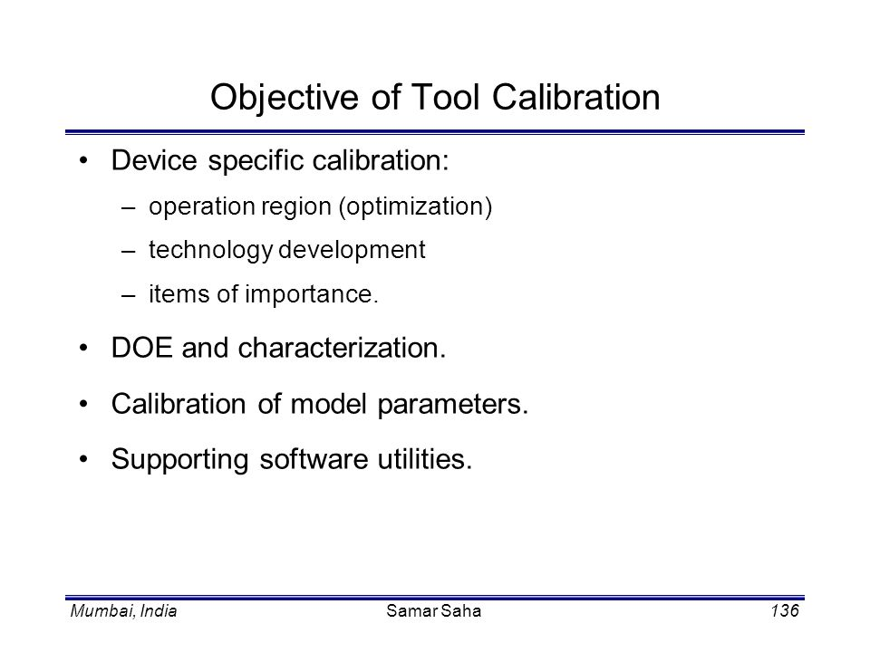 Objective of Tool Calibration