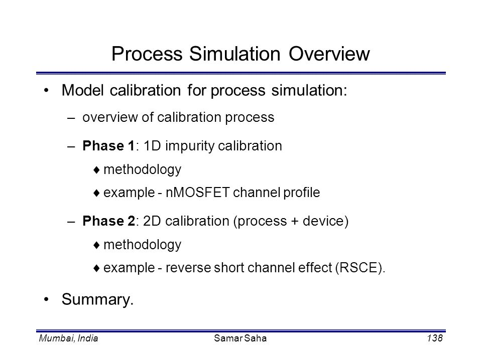 Process Simulation Overview