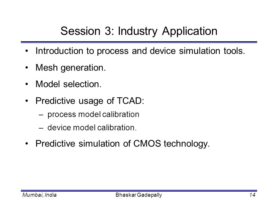 Session 3: Industry Application