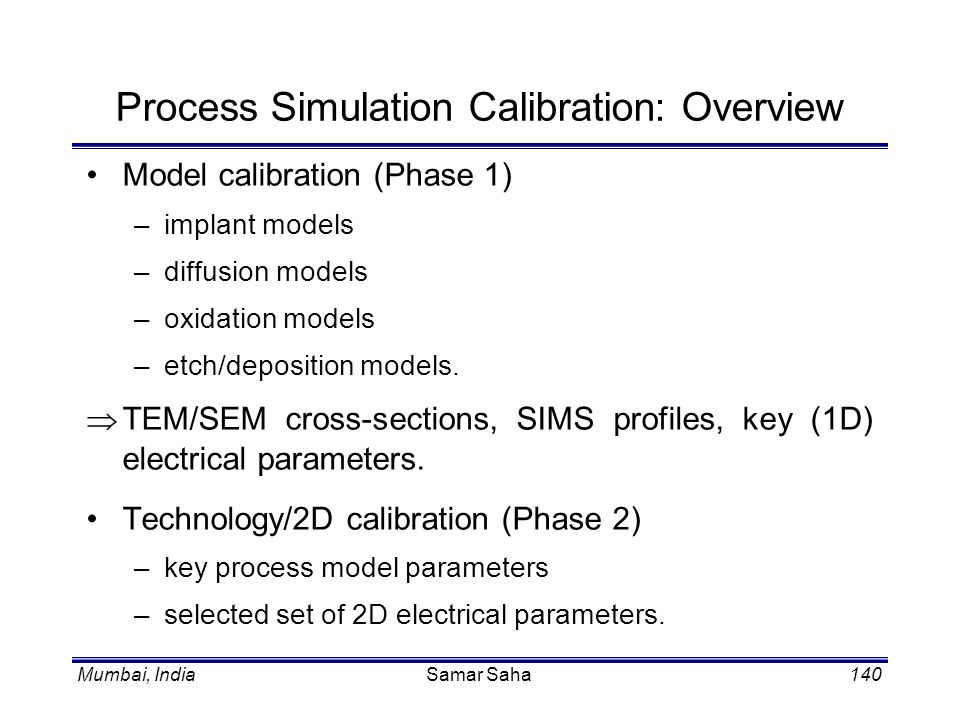 Process Simulation Calibration: Overview