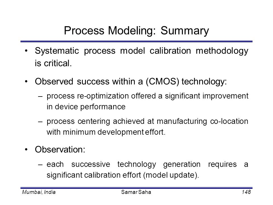 Process Modeling: Summary