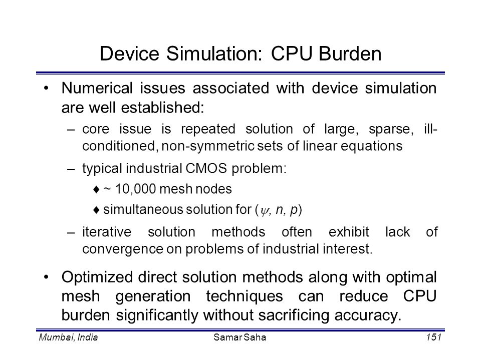 Device Simulation: CPU Burden