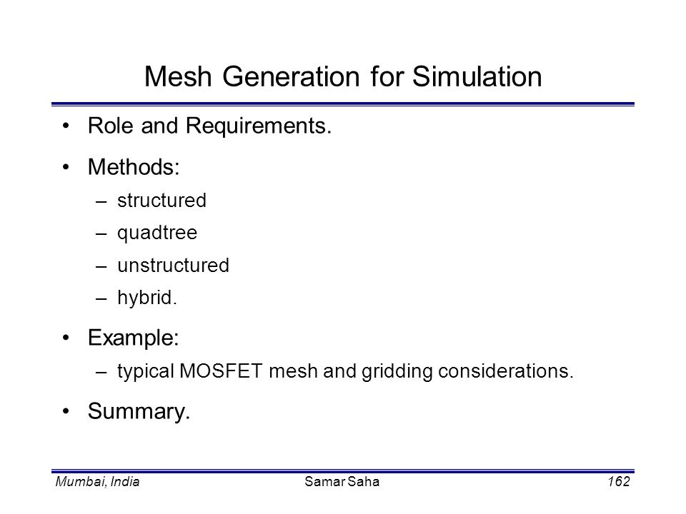 Mesh Generation for Simulation