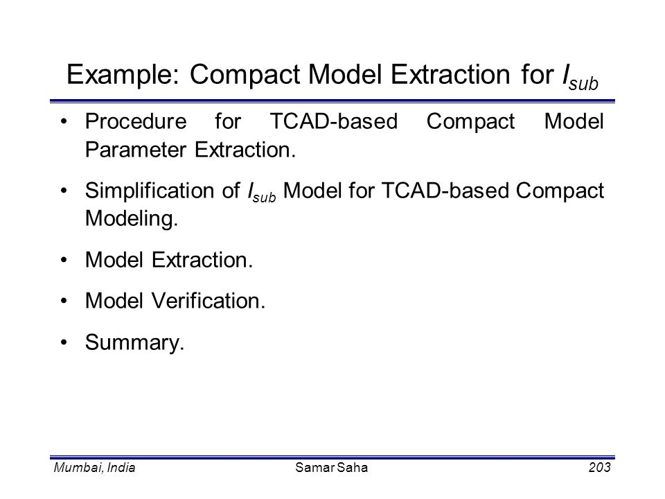 Example: Compact Model Extraction for Isub