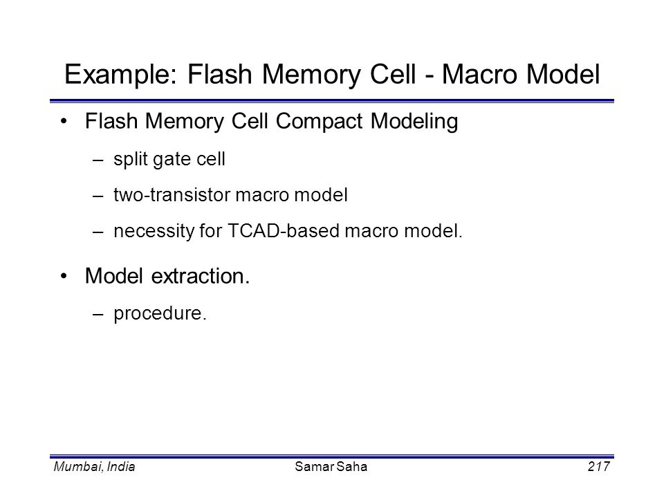 Example: Flash Memory Cell - Macro Model
