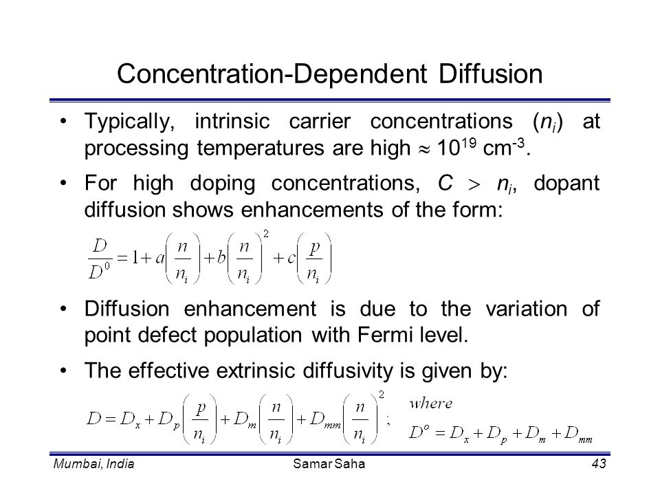 Concentration-Dependent Diffusion