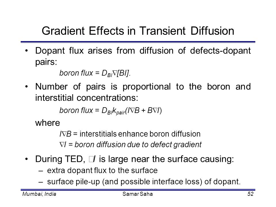 Gradient Effects in Transient Diffusion