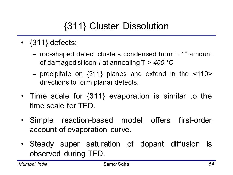 {311} Cluster Dissolution