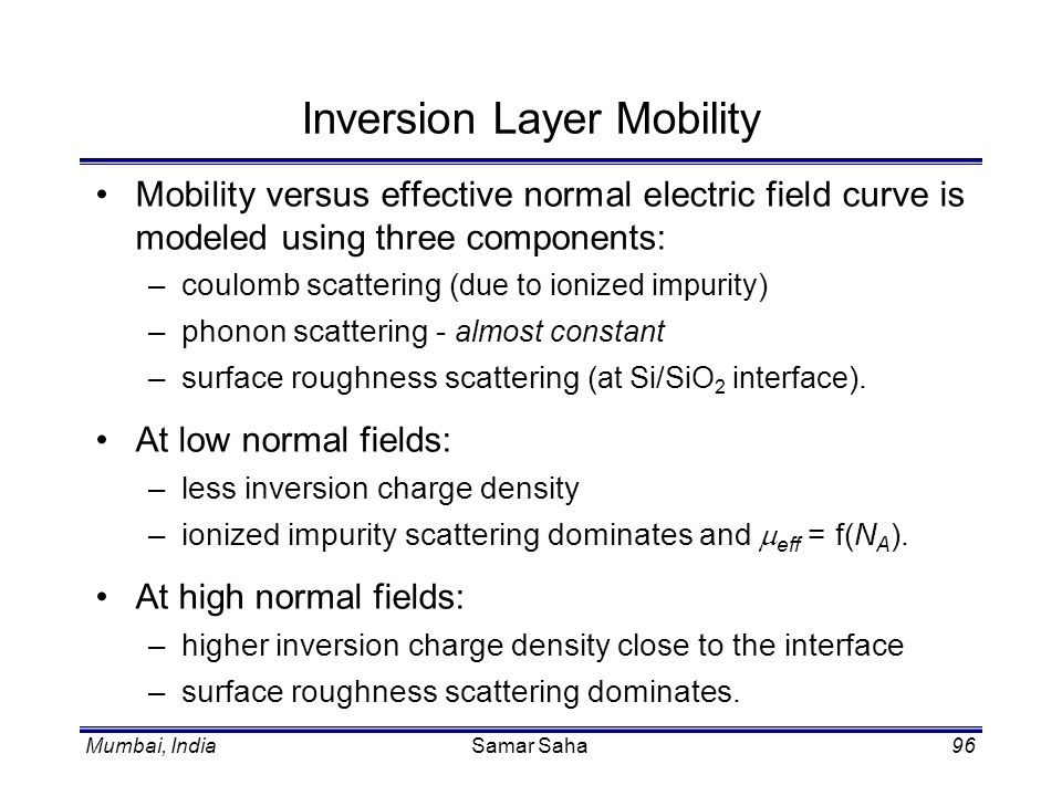 Inversion Layer Mobility