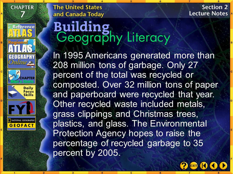 In 1995 Americans generated more than 208 million tons of garbage